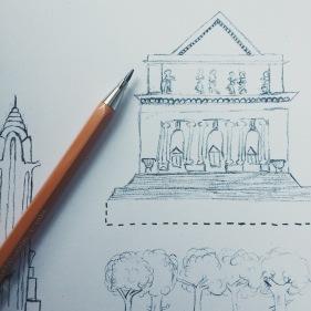 NY Public library illustration for craft activity