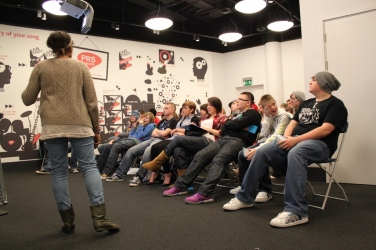 Teen workshop at the British Music Experience